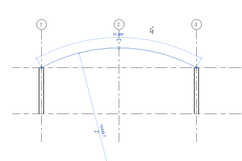 Drawing Lines Revit : Create cambered beams in revit