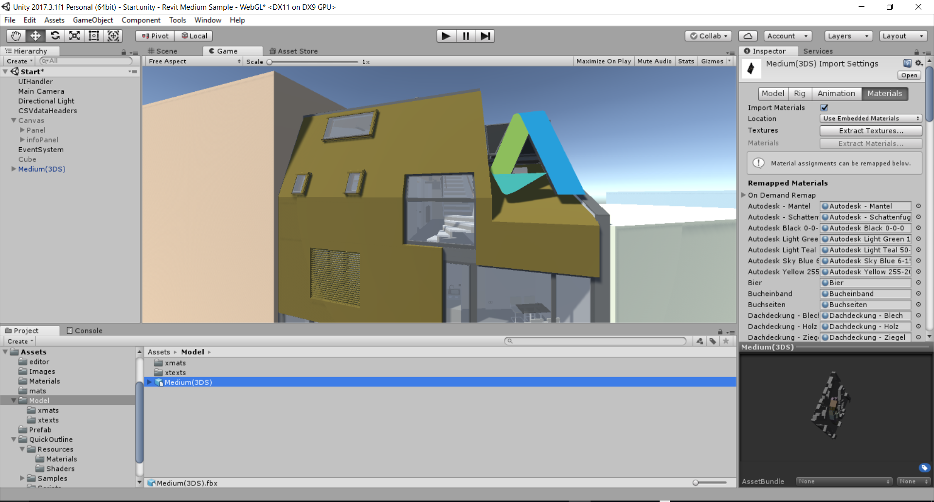Revit to Unity (With Materials)